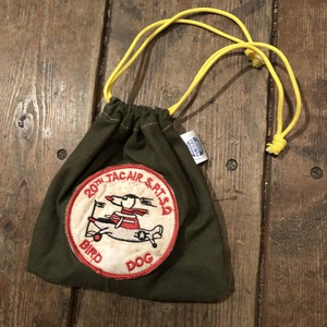 "Vietnam War Patch ""Kinchaku"" Pouch, Bird Dog"