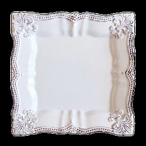 square dish / スクエア レースディッシュ 23.5cm
