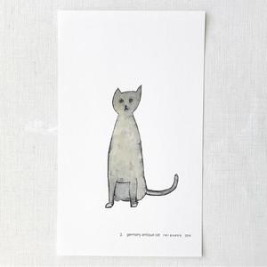 猫  /  ブリキの絵 ポスター