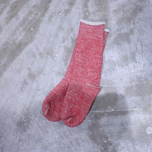 RoToTo(ロトト) Double Face Socks Red R1001