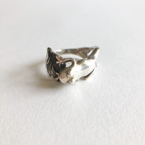silver 925 frog ring #10[r-128]