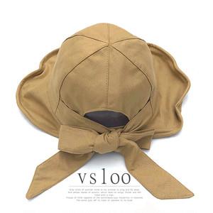【小物】キュート 韓国系 リボン 透かし彫り 無地 切り替え帽子43315082