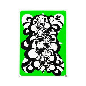 KABEKUI - INFINITE Print -Neon Green-