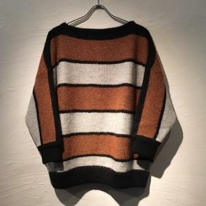 Needles(ニードルズ)2017FW Mohair Boat Neck Sweater-Stripe