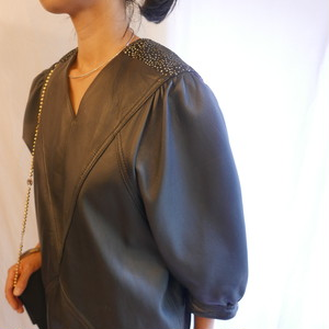 """French """"3 SUISSES"""" Black Leather Dress"""