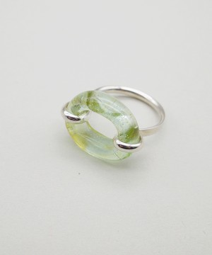 【CLED / クレッド】IN THE LOOP Ring / リング / Sterling silver×Mint Ice