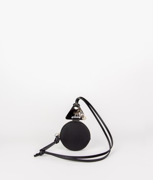 DODO COIN NECKLACE_WALLET ROUND_ BLACK