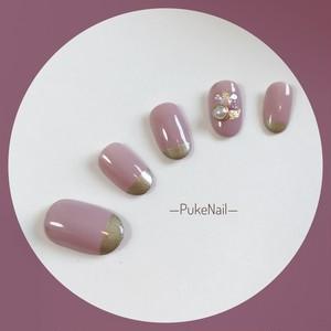Pukeネイル [No.129]シンプルデザイン☆大人気♡♡♡ジェイルネイルチップ