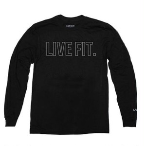 LIVE FIT Outline Long Sleeve- Black