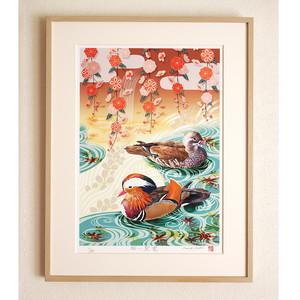 花鳥画|桜に鴛鴦
