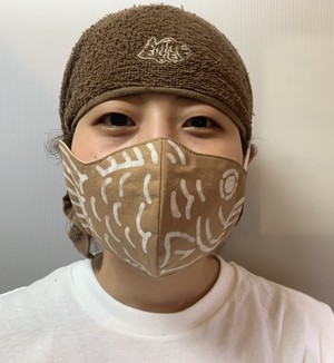 たいやきマスク(白色柄)