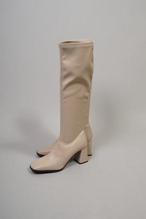 SKIN STRETCH LONG BOOTS (BEIGE) 2109-83-2
