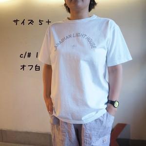 20周年記念リバイバルロゴ Tシャツ UNI B柄 ライトハウス  12C48B サイズ5 サイズ5+