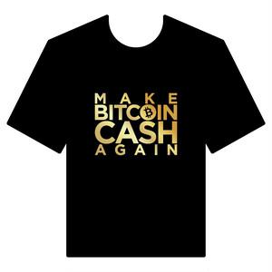 BitcoinCashTシャツ シリーズC 黒 COFA(C4-006)