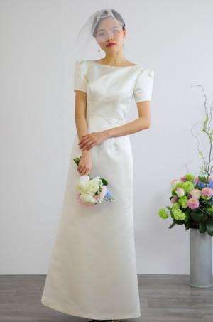 ウェディングドレス クラシカル スレンダーライン 結婚式 二次会 花嫁ドレス 海外挙式 フォトウェディング【WE-5】