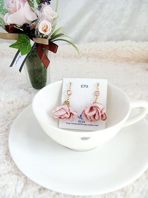 【受注生産】春のフラワータッセルピアス ピンク