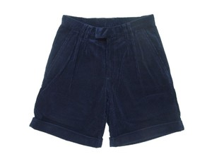 WIDE CORDUROY SHORTS NAVY  (ARCHIVE)