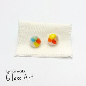 Glass Art ピアス(マルチ)