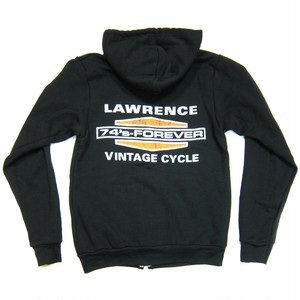 Lawrence Vintage Cycle B&S Logo Full-Zip Hoodie,Blk