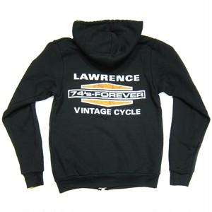 Lawrence Vintage Cycle B&S Logo Full-Zip Hoodie,Blk