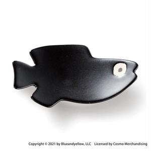 レオ・レオニ 豆皿 小皿 ミニ 皿 約8×4cm スイミー クロ 瀬戸焼 278213