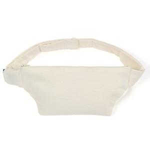 マスクポーチとしてもお使いいただける 消臭今治タオル製 素肌に着けるセキュリティポーチ(ホワイト) ジョギング・散歩の運動の邪魔にならず貴重品を携行できます 【送料無料】