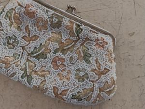 FRANCE 1950's Beads Purse
