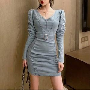 bc belt denim dress