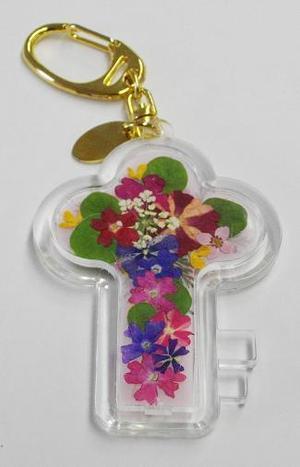 押し花キーホルダー(カギ型)
