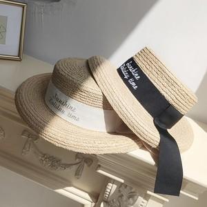 全2色英字ロゴストローカンカン帽