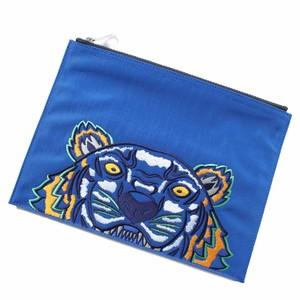 KENZO(ケンゾー) タイガー クラッチバッグ A4ポーチ ブルー r013623