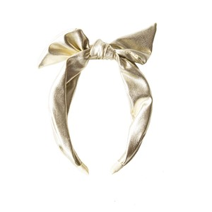 H1331G Gold Shimmer Tie Head Band