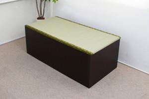高床式ユニット畳(1畳ハイタイプ)ダークブラウン低ホルムアルデヒド・日本製 FM012NA