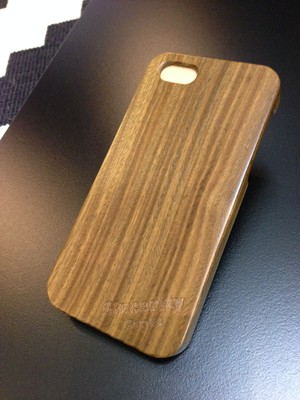 "iPhone5/5s wood case ""パロサント"""