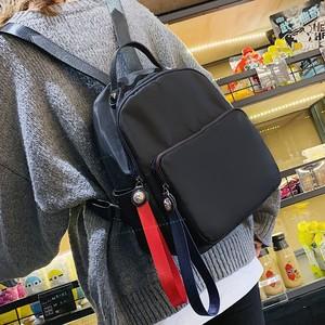 【バッグ】韓国風カジュアルファスナー配色大容量リュック・2色