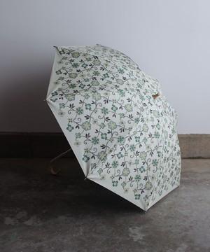 【花壁刺繍プリント】雨天兼用日傘 (ELS45/ペールグリーン・ライトグレー・ネイビー)