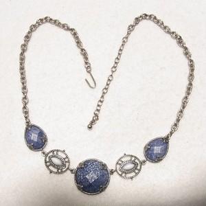 紺色の石のネックレス コスチュームジュエリーのセール通販 5183N