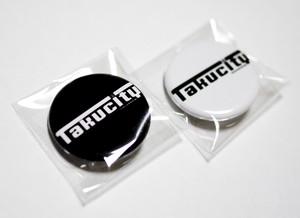 Takucity 缶バッジ(ブラック・ホワイト)