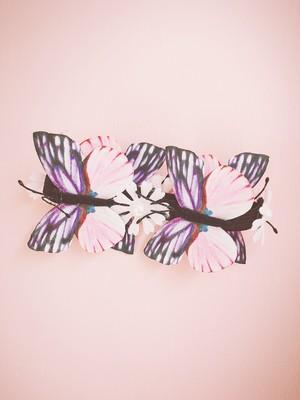 蝶々&お花ヘアーゴム