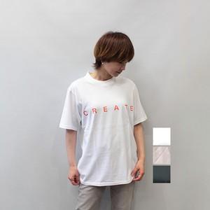 sieste peau (シエスタポー) rogo T-shirt  CREATE 2021春夏新作