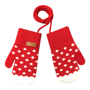 Kids Gloves - Dancing Dot (RED)