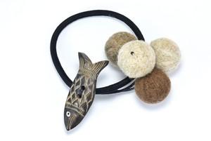 ボーンのヘアゴム 魚