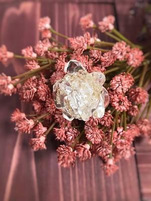 水晶のポニーフック ~一輪の薔薇~
