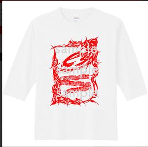 [T-Shirt] es. ロゴTシャツ 五分袖 white