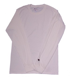 CHAMPION L/S T-Shirt WHITE