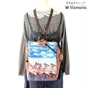【フラミンゴ】あなたの好きを支えるZOO×Glamania4WAY貴重品ポケット&ボトルポケット付きリュック