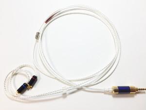 4本ツイスト2.5mm4poleーMMCX リケーブル(AM-4254-MMCX)