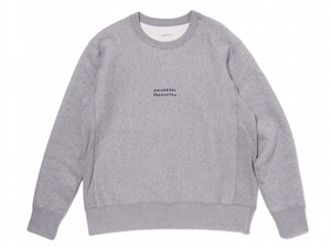 """UNIVERSAL PRODUCTS.+N """"  CREW NECK SWEAT  """" Gray"""