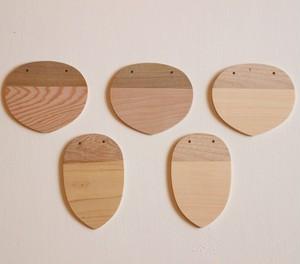 木のネームホルダー(5枚セット)