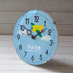 出産祝い時計 ひこーき・ロボット クロック お名前入ります